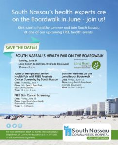 South Nassau's Health Fair on the Boardwalk flyer